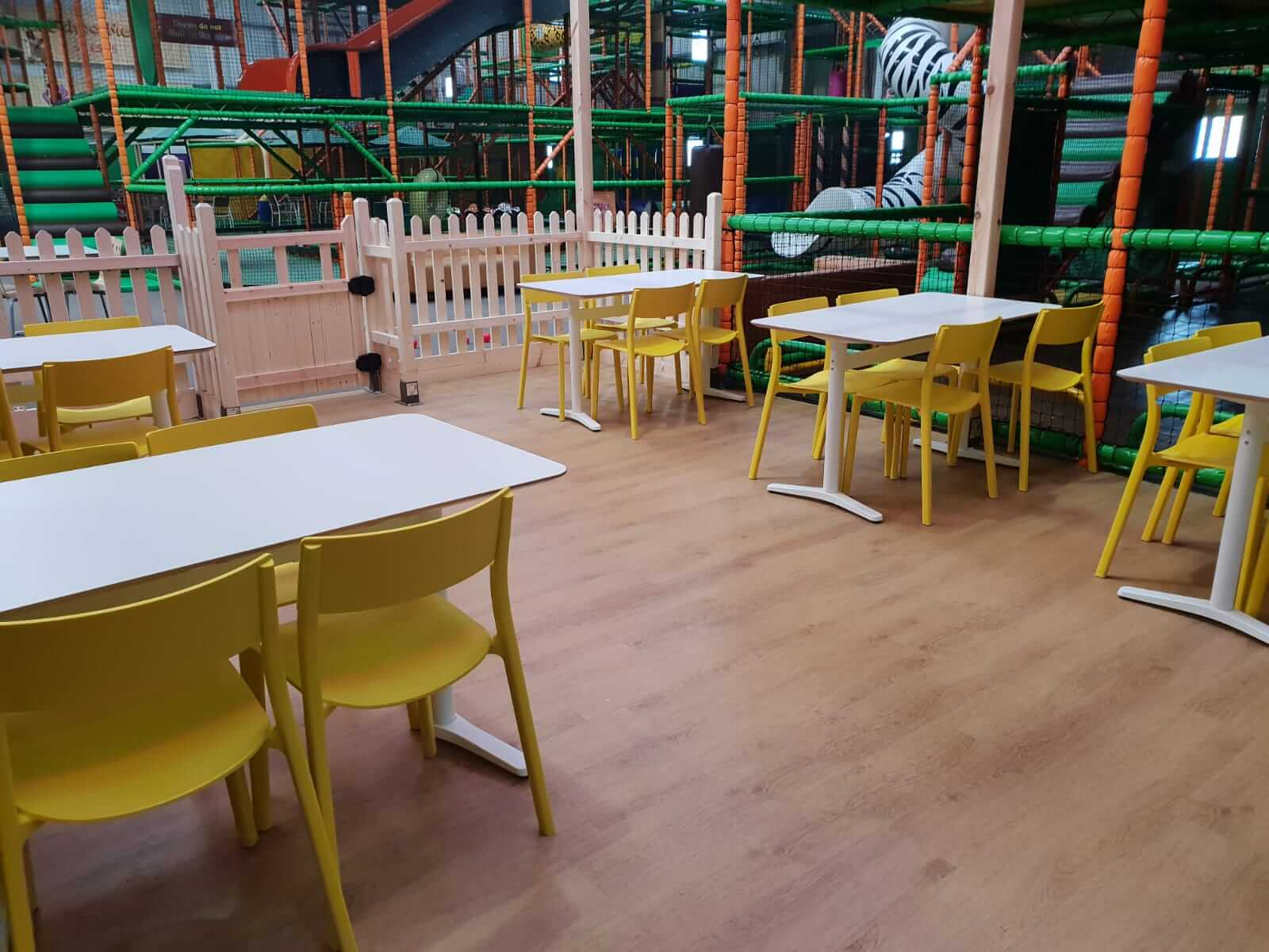 Seating area for parents to relax