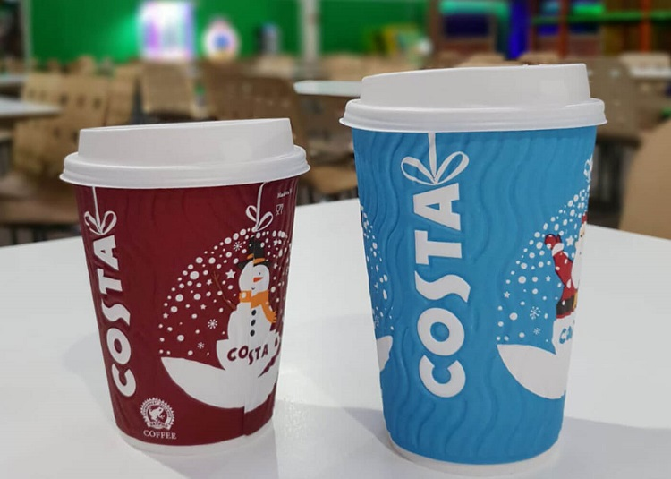 A costa coffee displayed inside Mambo Soft Play Cardiff
